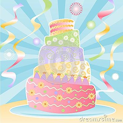 Entscheidender Geburtstag-Kuchen
