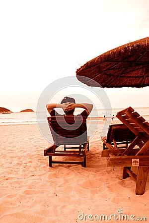 Entspannen Sie sich auf Küste