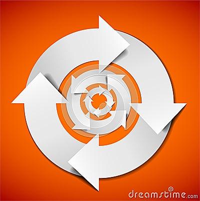Entziehen Sie vektorlebenszyklusdiagramm