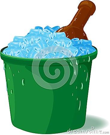 Envase del hielo