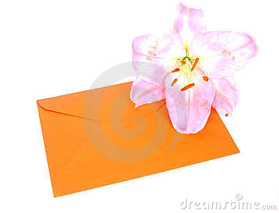 Envelop with flower