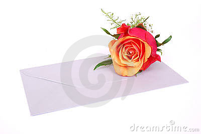 Envelop with rose