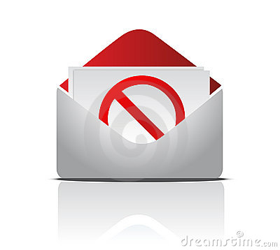 Free Envelope And Red STOP Sign Stock Photography - 21506122