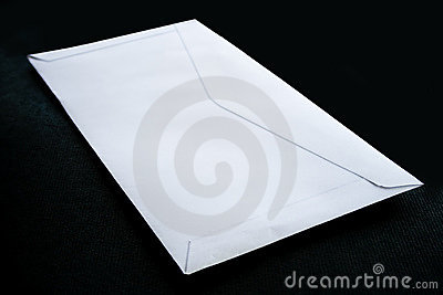 Envelope on black background