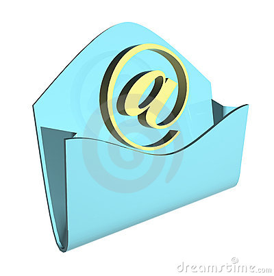Envelope e-mail concept
