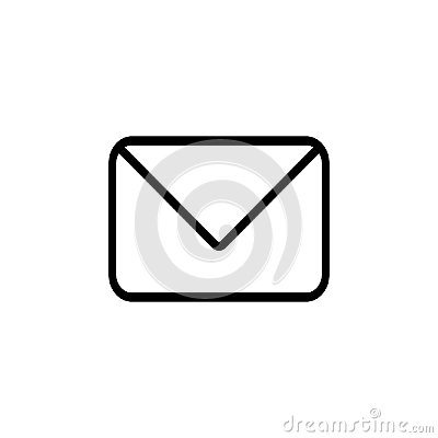 Envelope email icon flat stlye vector illustration communication symbol Vector Illustration