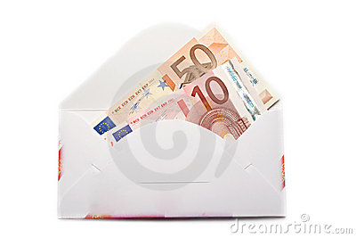 Envelope with euro