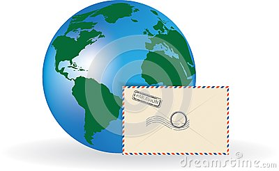 Envelope and globe