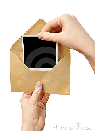 Envelope in the hand