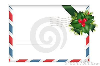 Envelope With Holly Berry. Vector