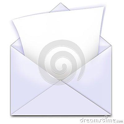 Envelope letter copy space