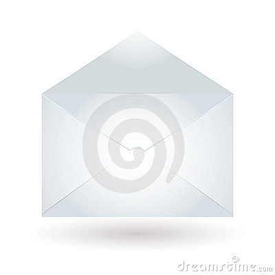 Envelope light blue