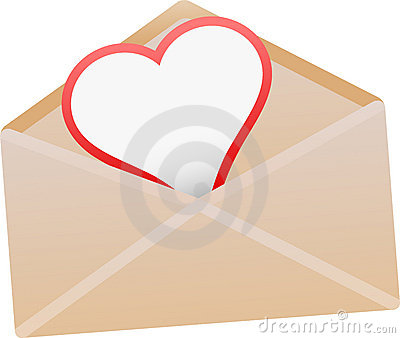 Envelope with love card -
