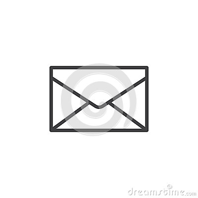 Envelope, mail, message line icon, outline vector sign, linear style pictogram isolated on white Vector Illustration