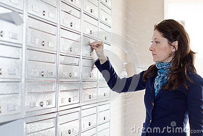 Envelope in mailbox