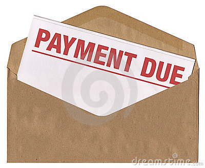 Envelope - payment due notice letter