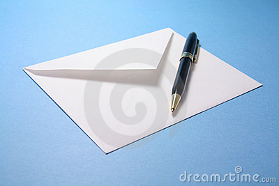 Envelope And Pen Stock Image - Image: 1319041