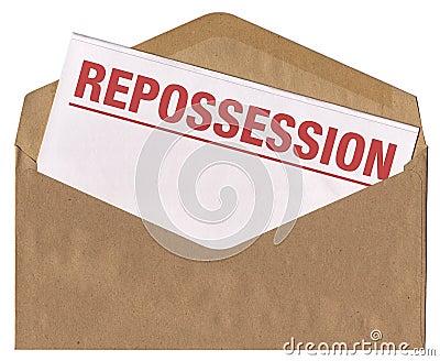 Envelope - Repossession notice letter