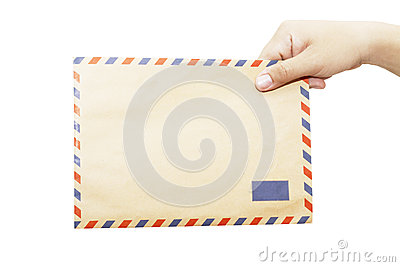 Envelope in the right hand