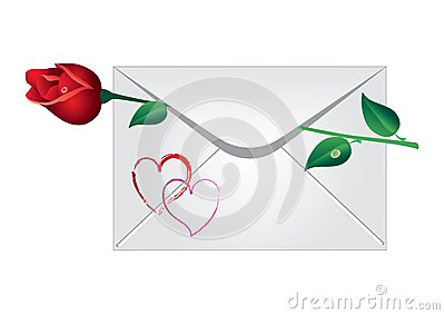 Envelope with the rose