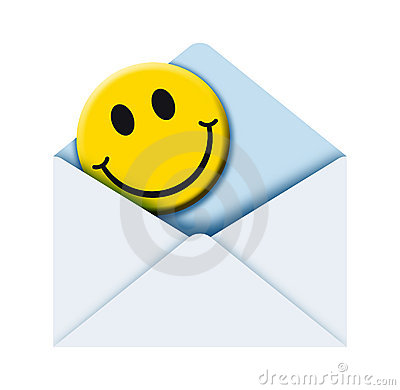 Envelope with smile 2