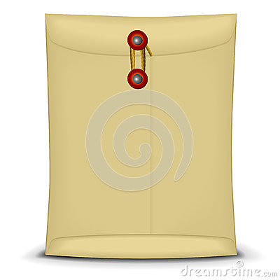 Envelope with string