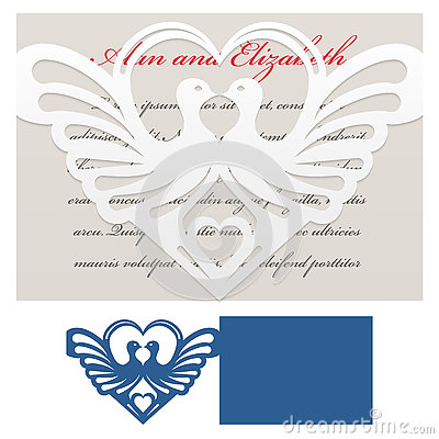 Free Envelope Template For Laser Cut Royalty Free Stock Image - 73839886