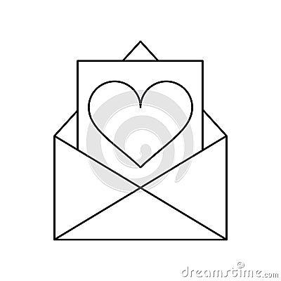 Cartoon Envelope With Valentine Heart Stock Vector - Image: 82252728