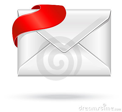 Free Envelope With Red Sign Royalty Free Stock Photography - 15943277