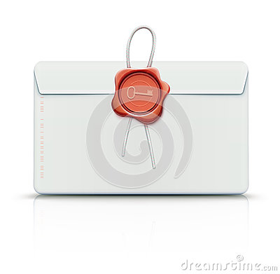 Free Envelope With Red Wax Seal Royalty Free Stock Images - 27352189