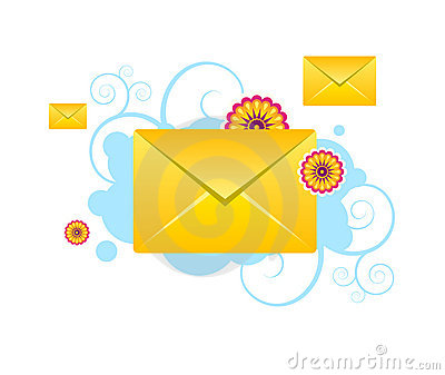 Envelopes, e-mail, sms vector icons with patterns