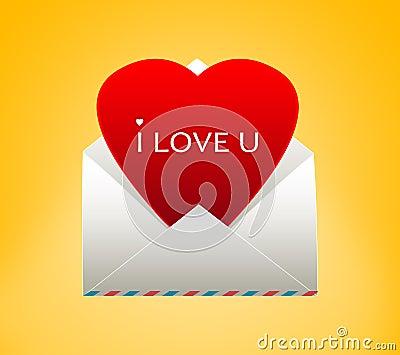 Enveloppe avec un coeur pour la saint valentin illustration stock image 45103139 - Coeur pour la saint valentin ...