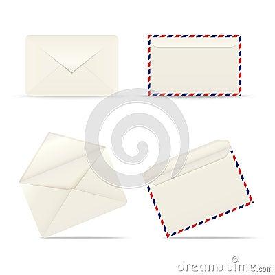 Enveloppe l icône sur le fond blanc