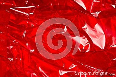 Enveloppe rouge de clinquant