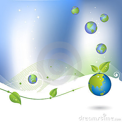 Environment background with globe icon