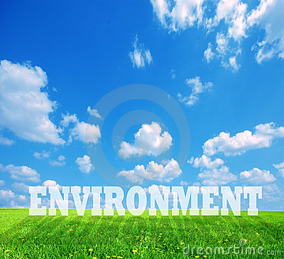 Environment caption on green land