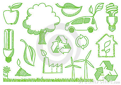 Environment doodles icons
