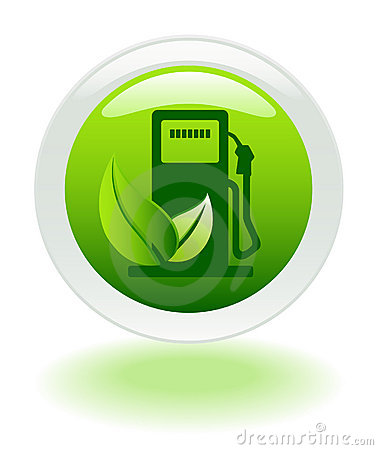 Environment friendly fuel icon