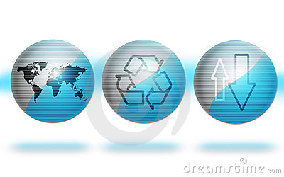 Environment Globes Blue Stock Images - Image: 8327994