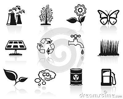 Environment icon set.