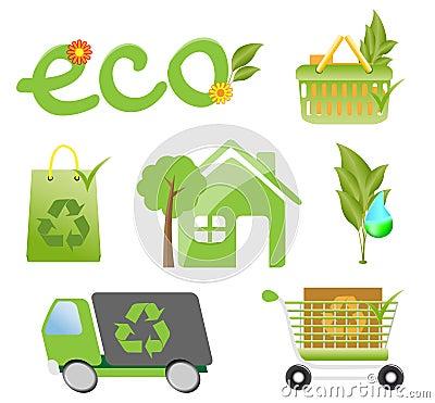 Environment protection icon set