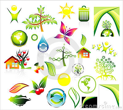 Environment recycle Icon set