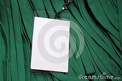 Environmental Conference Green Lanyard ID Card