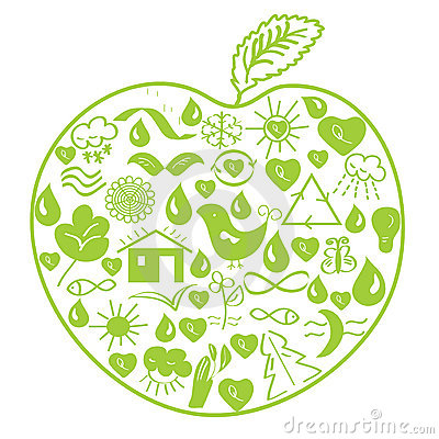 Environmental green apple