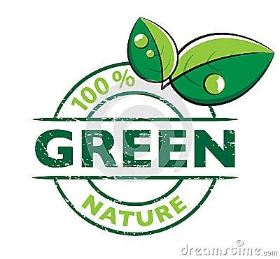 Environmental green logo