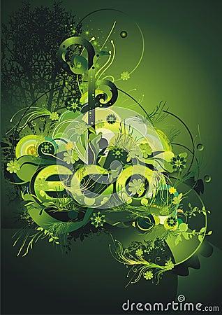 Environmental green poster
