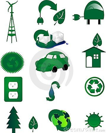 Free Environmental Icons For Go Green.. In The World.. Royalty Free Stock Photo - 8923105