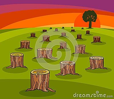 Environmental protection cartoon