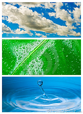 Environmental theme abstract background