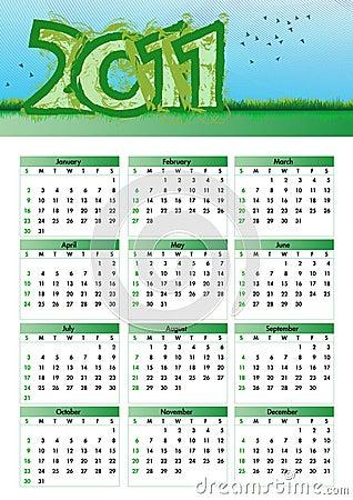 Environmentalism Calendar 2011
